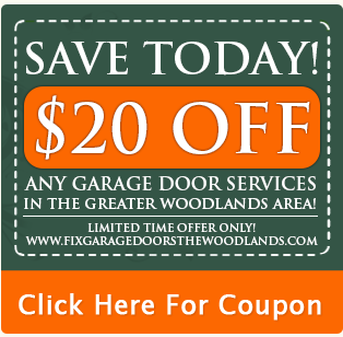Fix garage doors the woodlands garage door parts for Garage appeal coupon code